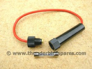 Inline Fuse Holder, Bakelite Type for Classic Bikes, with Fuse.